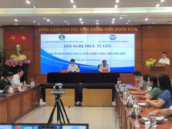 Hội nghị trực tuyến về chuyển đổi số trong lĩnh vực nông nghiệp và phát triển nông thôn