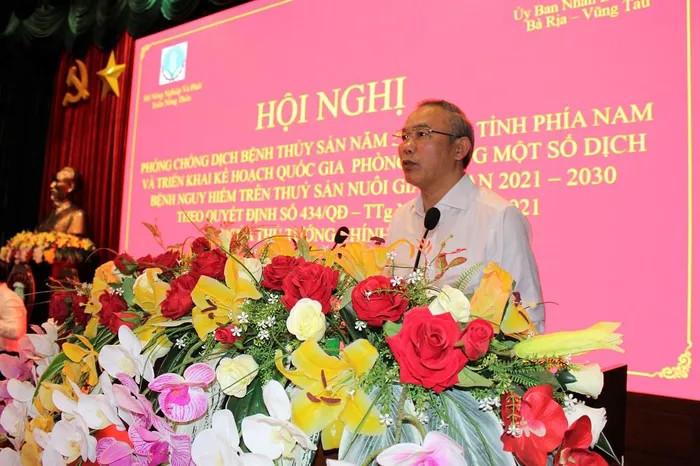 Thứ trưởng Phùng Đức Tiến phát biểu tại hội nghị (Ảnh: baomoi.com)