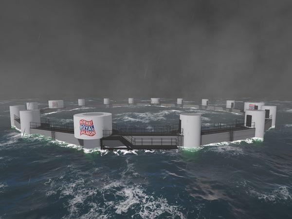 Mô hình trang trại cá hồi chìm ngoài khơi, điều khiển từ xa đầu tiên ở Bắc Cực