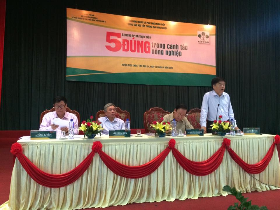 """Hội nghị tư vấn khoa học """"5 đúng trong canh tác nông nghiệp"""" tại tỉnh Sơn La"""