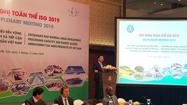 Bộ trưởng Nguyễn Xuân Cường phát biểu khai mạc Hội nghị toàn thế ISG 2019