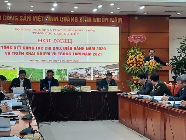Bộ trưởng Nguyễn Xuân Cường phát biểu chỉ đạo hội nghị (Ảnh: mard.gov.vn)