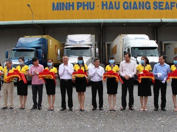 Hau Giang: The first batch of shrimp in 2021 was officially exported